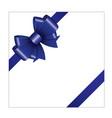 blue ribbon bow 03 vector image vector image