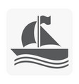 boat icon on white vector image