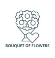 bouquet flowers line icon vector image vector image