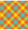 Bright diagonal checkered plaid seamless pattern vector image