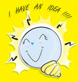 bulb i have an idea vector image