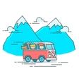 Camper Van in the mountain vector image vector image