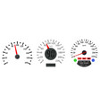 car dashboard scales speedometers and tachometer vector image vector image