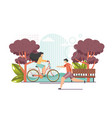 cardio workout flat style design vector image vector image