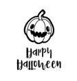 cheerful black pumpkins on card happy halloween vector image vector image