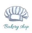 Chef hat cap or toque sketch for bakery design vector image vector image