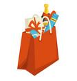 christmas holiday celebration xmas presents set vector image vector image