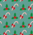 Christmas seamless pattern with berries and vector image vector image