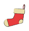 christmas stocking stock vector image