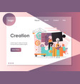 creation website landing page design vector image vector image
