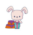 cute rabbit animal baby vector image