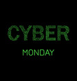 cyber monday discount day in online stores event vector image vector image
