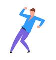 dancing man cartoon young dancer in night disco vector image vector image