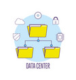 data center connection information server vector image vector image