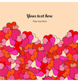 Decorative hearts border vector image