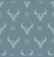 deer pattern on dark blue background seamless vector image