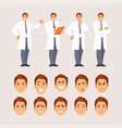 doctor poses and emotions set vector image vector image