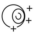 eyeball plus icon outline style vector image