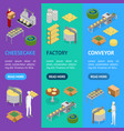 factory cheese production line elements and staff vector image vector image