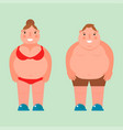 fat woman flat overweight body vector image