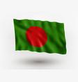 flag bangladesh vector image vector image