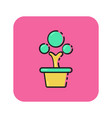 flat color tree icon vector image