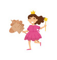 flat of happy little girl in vector image vector image