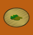flat shading style icon pair of men shoes vector image