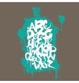 Font graffiti vandal and cans vector image vector image