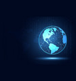 futuristic blue earth abstract technology vector image vector image