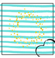 gold glitter confetti with dots vector image