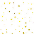 golden cute hand drawn stars vector image vector image