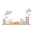 industrial factory manufacturing building flat vector image