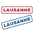 Lausanne Rubber Stamps vector image vector image