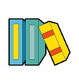 library books isolated icon vector image
