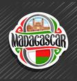 logo for madagascar vector image