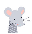 mouse cute animal baface vector image vector image