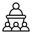 public authority icon outline style