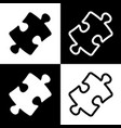 puzzle piece sign black and white icons