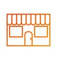 restaurant facade exterior building commercial vector image vector image