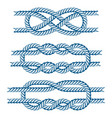 sea boat rope knots isolated vector image vector image