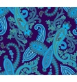 Seamless paisley background Blue colors vector image vector image