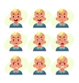 Set of blond baby boy avatars with different vector image vector image