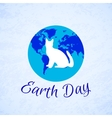 Silhouette of a cat over planet Earth Earth Day vector image vector image
