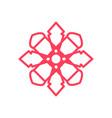 square polygon mandala geometric symbol graphic vector image