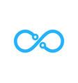 tech infinity logo icon design vector image vector image