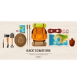 TravelHiking Background Mountain Climbing vector image