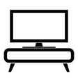 tv set on the cupboard commode bedside table home vector image