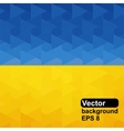 Ukrainian flag of geometric shapes vector image