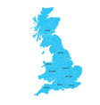 United kingdom great britan map map isolated on